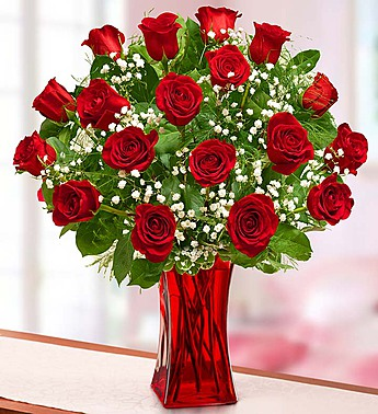 Blooming Love 18 Premium Red Roses