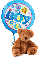 It's A Boy Bear & Balloon