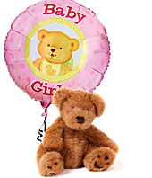 It's a Girl Bear & Balloon