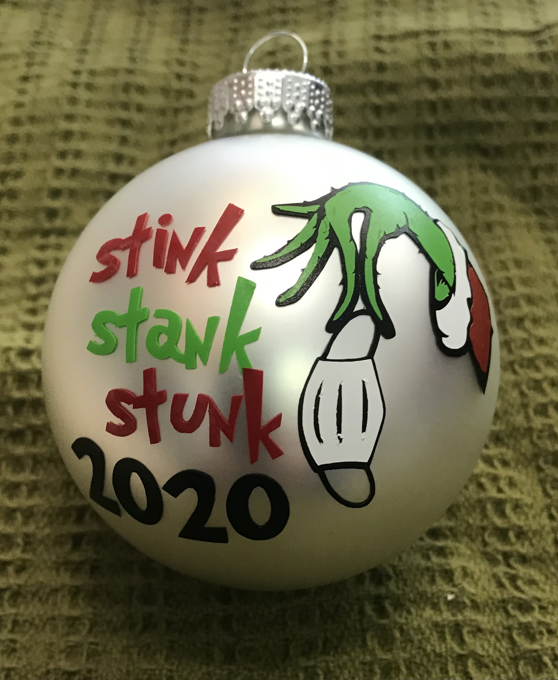 2020 Grinch Mask Christmas Ornaments