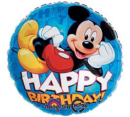 Happy Birthday Mylar Mickey